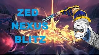 ZED NEXUS BLITZ - LEAGUE OF LEGENDS GAMEPLAY COMMENTARY