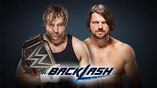 Dean Ambrose VS AJ Styles (WWE World Heavyweight Championship) / Backlash 2016 (WWE 2K16 PC Mods)