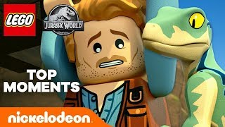 LEGO Jurassic World 🦖 Best 7 Scenes from Part 1! | Nick
