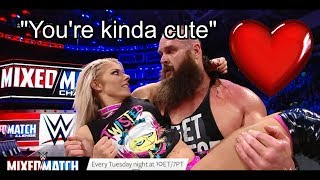 Cute Moments Alexa Bliss and Braun Strowman | WWE Mixed Match Challenge | Team Little Big