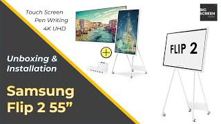 """01. Samsung Flip 2 55"""" Unboxing & Installation with Stand & Tray (2020)"""