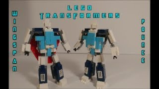 Lego Transformers Pounce and Wingspan Decepticon Clones By BX Brix