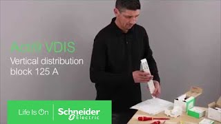 How to install Acti9 VDIS Vertical Distribution Block | Schneider Electric Support