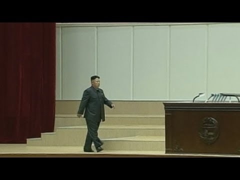 Kim Jong-un limps onto stage in footage of regime founder's anniversary