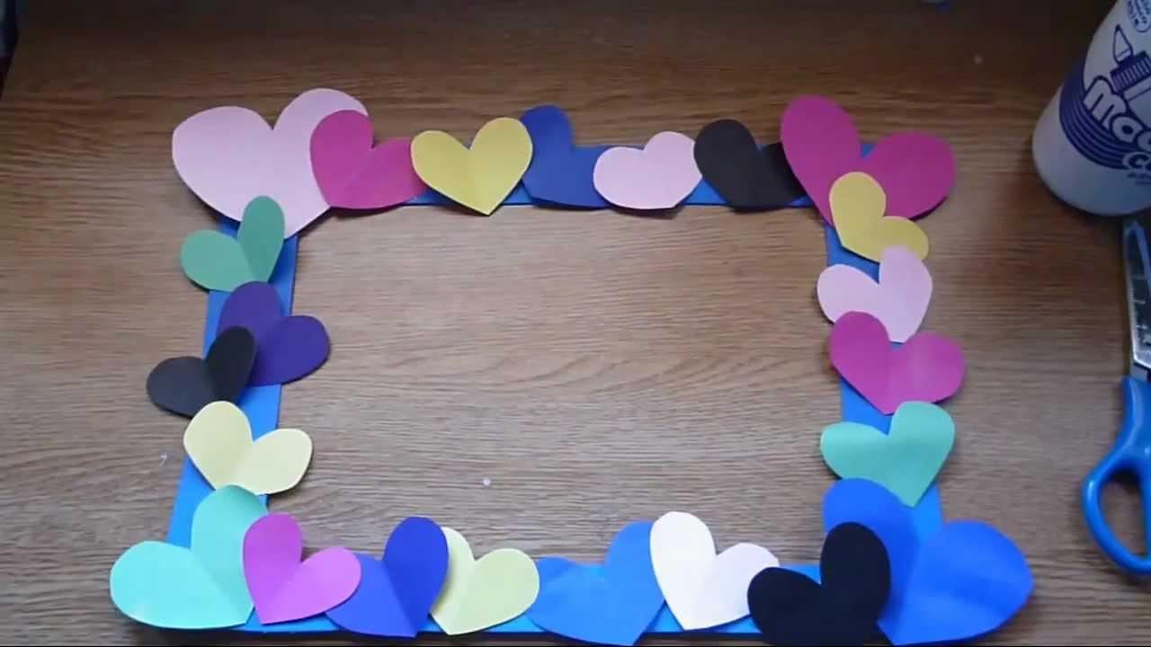 Diy marco decorado para san valentin super facil youtube for Imagenes de techos decorados