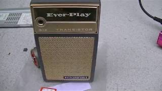 Everplay rechargeable am pocket transistor radio