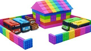 Learn Colors Kinetic Sand Rainbow House Mater in Cars 3 | DIY House | Toys For Kids