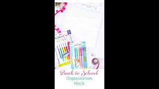 The Best Organization Hack for Back to School Success