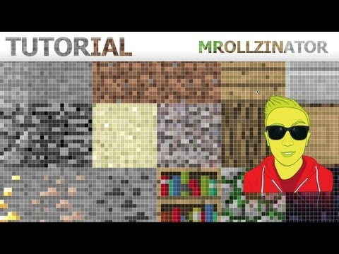 Minecraft Texture Pack Creation Photoshop - Tutorial HD