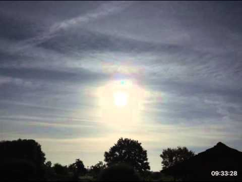 Terrible harmful Solar-Radiation-Management above Wolfsburg (VOLKSWAGEN-City) / 26.10.2015