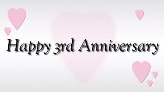 Happy 3rd Wedding Anniversary