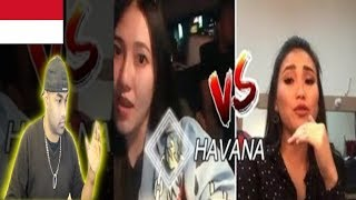 AYU TING TING Vs VIA VALLEN | Camila Cabello - Havana Cover | INDIAN REACTION TO INDONESIAN VIDEO