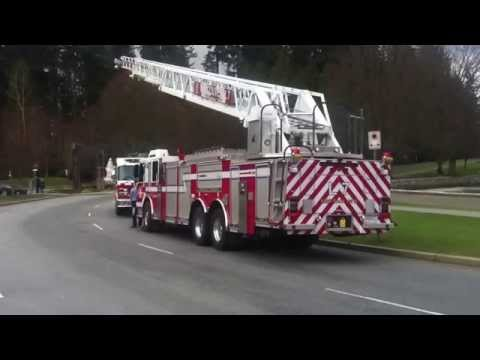 Vancouver Fire Rescue Ladder 7 and Engine 7 Retirement for