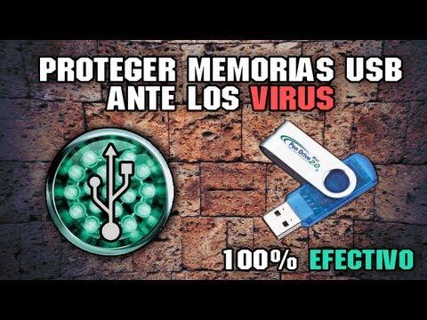 INMUNIZAR Y PROTEGER memorias USB ante cualquier VIRUS
