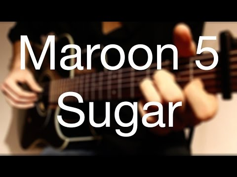 ►MAROON 5 - SUGAR Fingerstyle Guitar Cover/How to Play Easy videos- Easy Acoustic Song for Guitar/◀︎