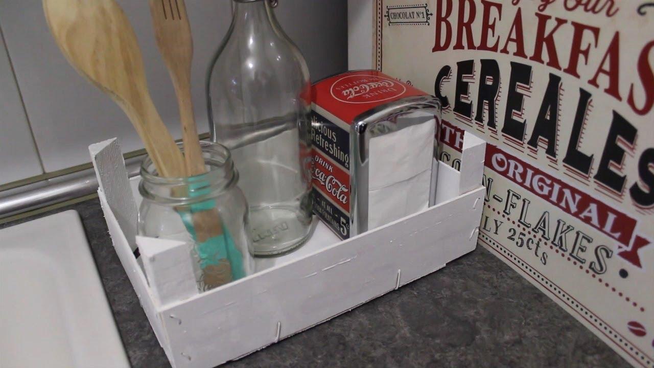 C mo reciclar una caja de fruta youtube - Como forrar una caja con tela ...