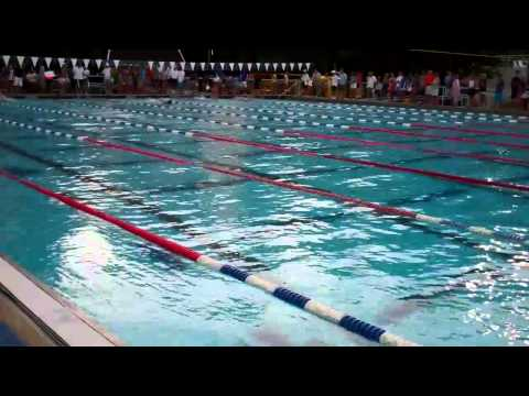 Palisades's Grant Goddard wins the Boys' 13-14 100m Butterfly in a time of 58.88 at the MCSL Coaches' Long Course meet. Video by Danielle Schulkin and Michae...