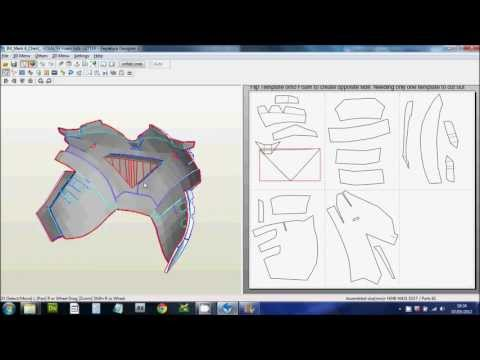 1 - (Downloading. Scaling & Printing Files) Foam Pepakura Iron Man Suit/Armor explanation