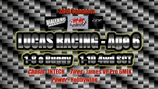 Lucas Racing Age 6 - INTECH BR6 1/8 E Buggy - Sponsored By: Dialed RC, LFR, SS Raceway and Hobbies