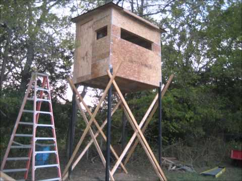 Building Deer Hunting Blind