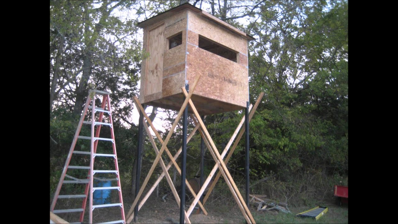 Building Deer Hunting Blind Youtube