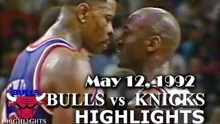 May 12, 1992 Bulls vs Knicks game 5 highlights
