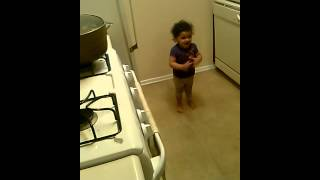 Baby Gets Caught Twerking By Daddy