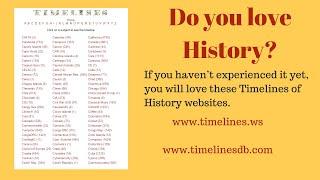 History Timeline - history - timeline (chronological order)