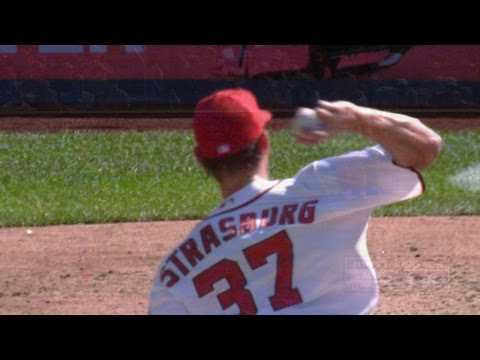 MIN@WSH: Strasburg strikes out 10 in 7 1/3 innings
