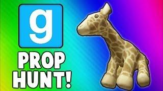 Gmod Prop Hunt Funny Moments 8 - Talking Giraffe, He's a Wiener, Sneaky Snake, Banana Peel DEATH!