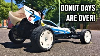 Tamiya DT-03 Neo Fighter Buggy 1/10 Street Tire Test! Louise E-Rocket vs Carson All Terrain Tires!