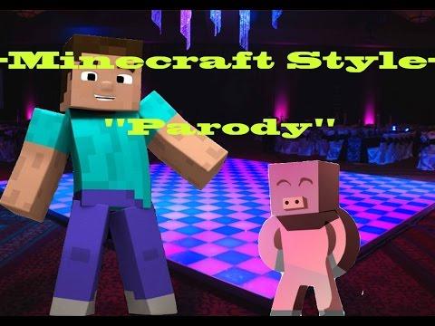 -minecraft Style -minecraft Parody open Gangnam Style video