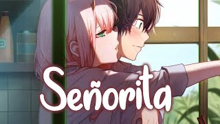 Nightcore - Señorita (Lyrics) [NMV]