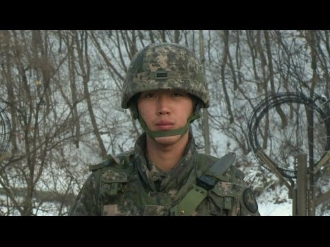 LIFE AS A SOUTH KOREAN BORDER GUARD - BBC NEWS