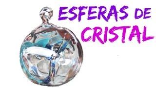 Esferas de cristal artesanales. Crystal spheres.