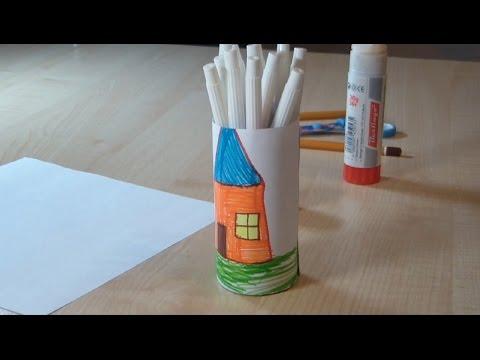 Поделка с бумаги и с фломастерами