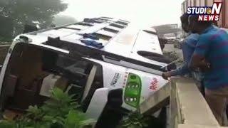 Private Travells Bus Road Accident at Abdullapurmet | Ranga Reddy
