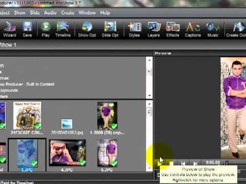 الدرس الثالث اضافه الصور فى الشريط الزمنى واضافه التاثيرات والاستايلات واضافه الشعار للصور