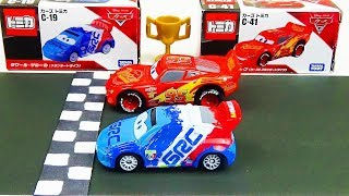Disney Cars Lightning McQueen VS Raoul CaRoule Race! Stop Motion  Tomica Special Race vol.6