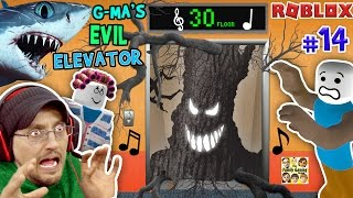 ROBLOX Grandma's EVIL Lift niet NORMAL w / SHARK TORNADO | FGTEEV Duddy # 14 (Gameplay Rollenspel)