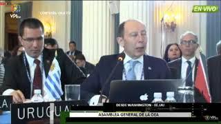 Intervención de Uruguay en la Asamblea General de la OEA el lunes 4 de junio