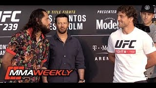 UFC 239 Face-Offs:  Ben Askren Confronts Jorge Masvidal  (Media Day)
