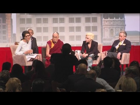 Dalai Lama, Lady Gaga and Philip Anschutz address the US Conference of Mayors