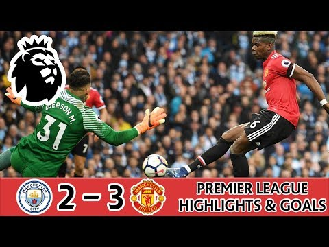 MANCHESTER CITY 2 - 3 MANCHESTER UNITED HIGHLIGHTS ( POGBA, SMALLING ) PREMIER LEAGUE REVIEW & GOALS
