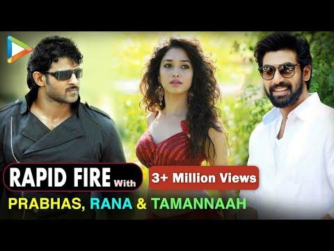 BH Exclusive: Rapid Fire With Prabhas | Rana Daggubati | Tamannaah Bhatia