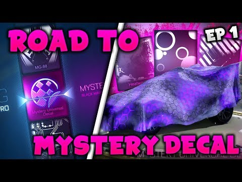 OMG!! ROAD TO A MYSTERY DECAL! *PART 1* Search For Black Market Decal! (Rocket League Crate Opening)