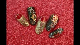Amazing Nail Art Designs | New Nail Art Compilation Apr 2019 by Unlimited Beauty Red Nails And Gears