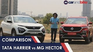 MG Hector Takes On Direct Rival Tata Harrier NDTV | carandbikes
