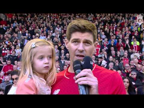 Steven Gerrard says goodbye to Anfield