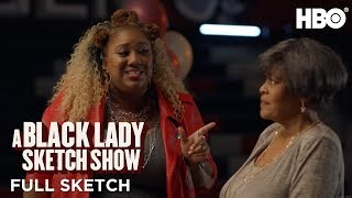 A Black Lady Sketch Show | Annoying Woman (Full Sketch) | HBO